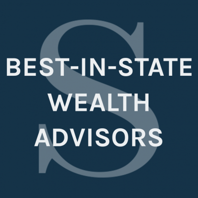 "navy Southwestern Investment Group graphic that says ""best-in-state-wealth-advisors"" with their a logo water print"