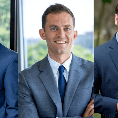 financial advisors Timothy Johnson, David Hayes, and James Ridley compiled headshots